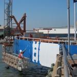 Marine - Pier Coating Application - Moist Metal Grip and Enamo Grip