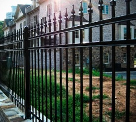 Wrought Iron Fence Painted Black