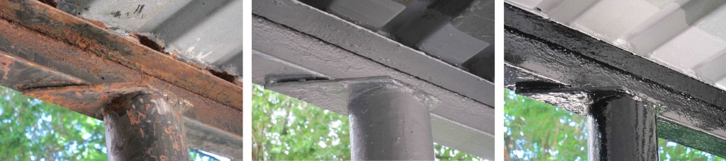Rust Grip and Enamo Grip on Support Beams