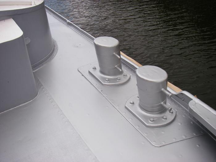 Rust Grip Marine Paint On Metal Boat Deck