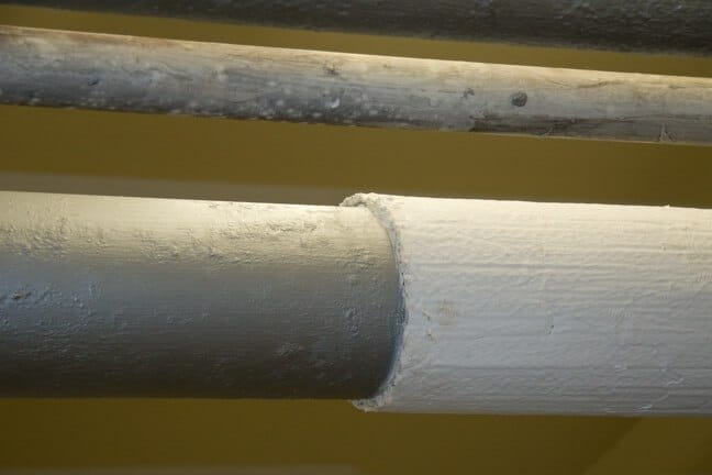 Thermal Pipe Wrap over Cold Water Pipes - Condensation Reduction