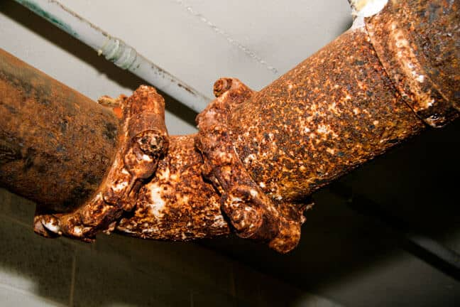 Rusted Metal Pipe Before Rust Grip