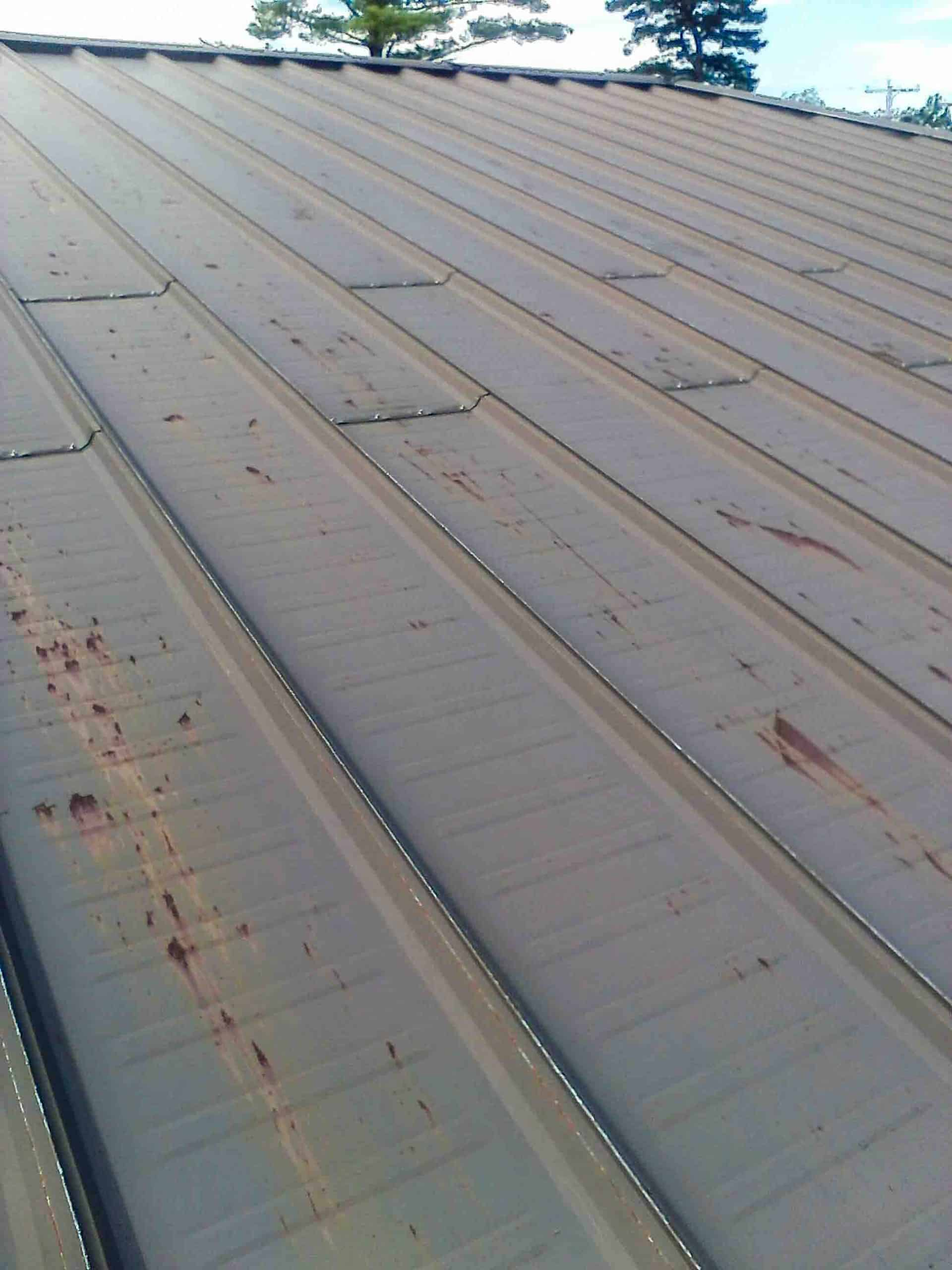 Metal Roof Paint Application - Before Rust Grip and Enamo Grip